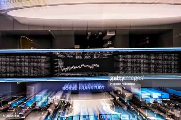 Floor trading at the German Stock Exchange in Frankfurt, Germany, 29 May 2014, on a day DAX index was again poised to reach 10,000 points. In the...