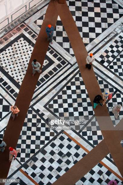 Flooring designs at Guru Tegh Bahadur sahib Gurudwara at Baba Bakala in Amritsar, Punjab, India