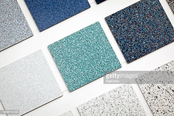 flooring samples - tapijt stockfoto's en -beelden
