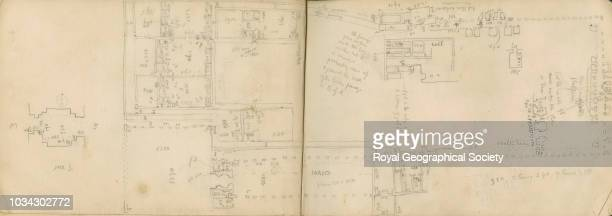 Floorplan sketch of Mar Tamasgard Kerkuk This image is taken from pages 3233 of notebook 13 of 15 these contain plans of churches copies of...