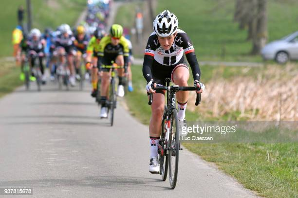 Floortje Mackaij of Netherlands and Team Sunweb / during the 7th GentWevelgem In Flanders Fields 2018 a 1426km women's race from Deinze to Wevelgem...