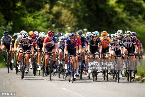 Floortje Mackaij of The Netherlands and Team Sunweb / Katarzyna Niewiadoma of Poland and Team Canyon SRAM Racing / Lisa Brennauer of Germany and Team...