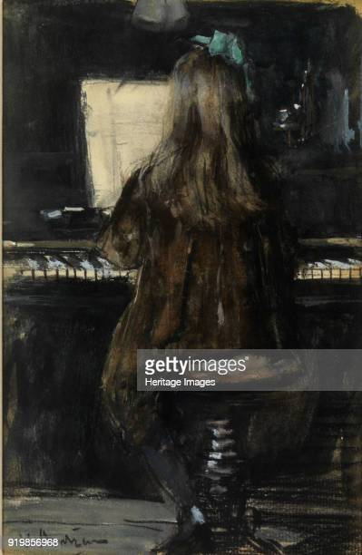 Floortje plays piano Found in the collection of Museum GoudaFine Art Images/Heritage Images/Getty Images