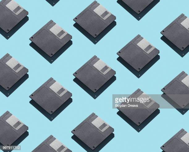 floppy disks - isometric projection stock photos and pictures
