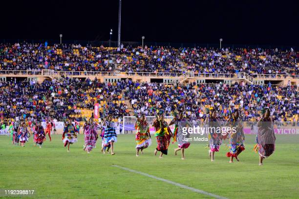 Flor de Piña performance at half time during the Final second leg match between Alebrijes de Oaxaca and Zacatepec as part of the Torneo Apertura 2019...