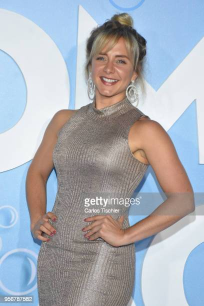 Flor Martino poses for pictures during the 'Overboard ' Mexico City premiere at Cinemex Antara on May 8 2018 in Mexico City Mexico
