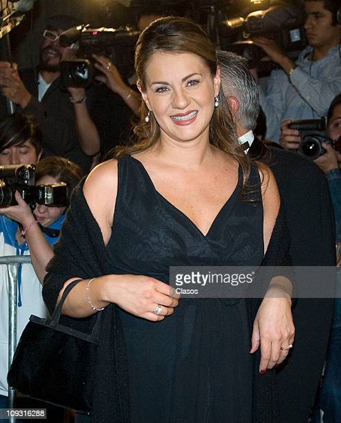 Flor Rubio attends to the marriage between Angelica Vale and Otto Padron at Colegio de Las Vizcainas on February 19 2011 in Mexico City Mexico