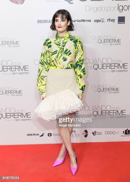 Flor Torrente attends 'Cuando Dejes De Quererme' Madrid Premiere on February 15 2018 in Madrid Spain
