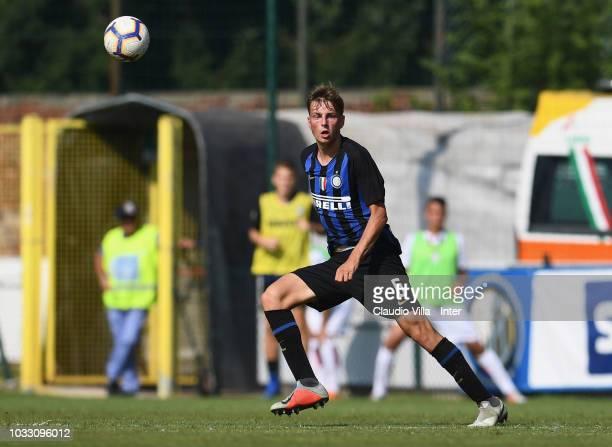 Flor Van Eynden of FC Internazionale in action during Fc internazionale U19 V Cagliari U19 match at Stadio Breda on September 14 2018 in Sesto San...
