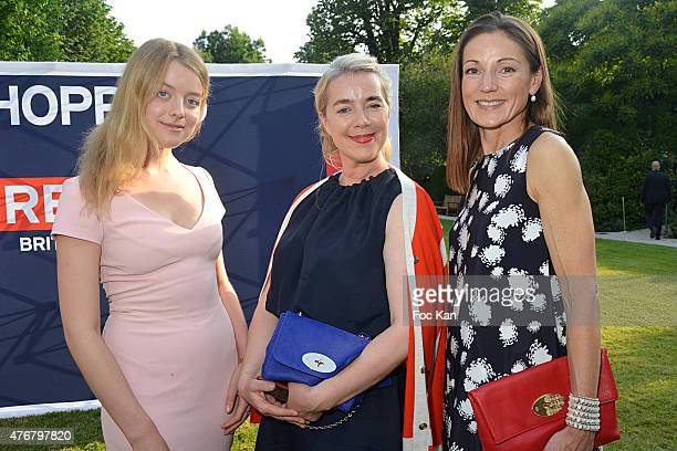 Flora Alexandra Ogilvy Anne Marie Verdin Brand Director at Mulberry and Lady Tania Rotherwick attend the British 'Summer Time 2015' Cocktail At the...