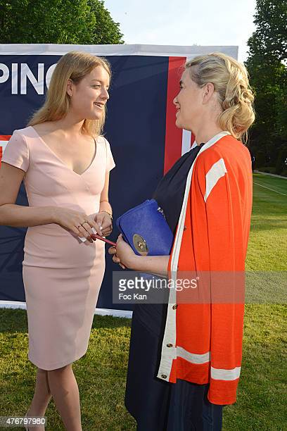 Flora Alexandra Ogilvy from the Royal Family and Anne Marie Verdin brand director at Mulberry attend the British 'Summer Time 2015' cocktail at the...
