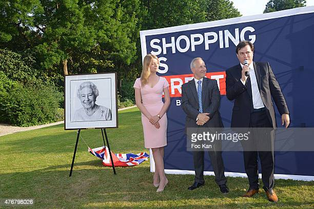 Flora Alexandra Ogilvy from the Royal Family, Great Britain ambassador Sir Peter Ricketts and Comite Faubourg Saint Honore President Benjamin...
