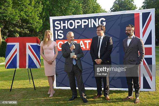Flora Alexandra Ogilvy from the Royal Family Great Britain ambassador Sir Peter Ricketts Comite Faubourg Saint Honore President Benjamin Cymerman and...