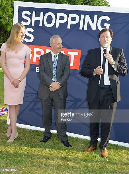 Flora Alexandra Ogilvy from the Royal Family Great Britain ambassador Sir Peter Ricketts and Comite Faubourg Saint Honore President Benjamin Cymerman...