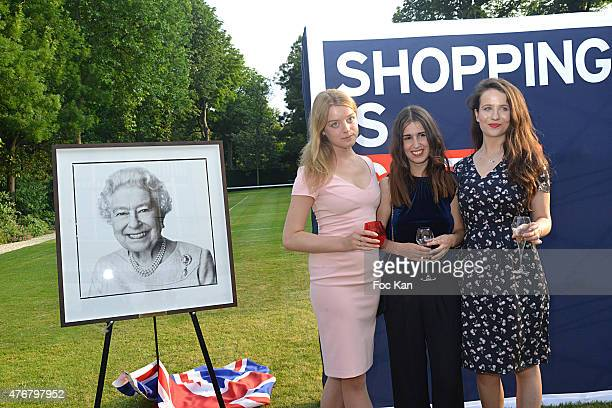 Flora Alexandra Ogilvy from the Royal Family Katia Belmadani and Laura Dawson attend the British 'Summer Time 2015' cocktail at the British Embassy...