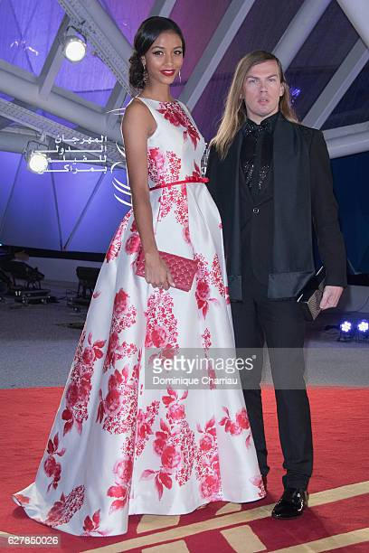 Flora Coquerel and Christophe Guillarme attend the Elle Premiere during the16th Marrakech International Film Festival Day Four on December 5 2016 in...