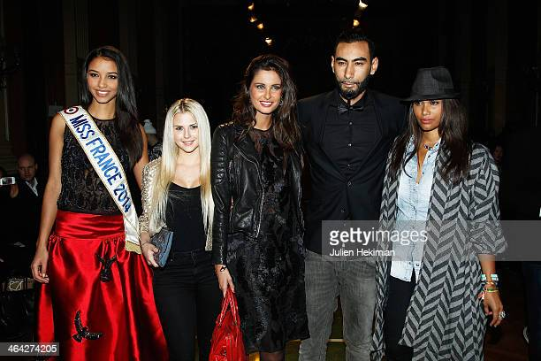 Flora Coquerel Kelly Vedovelli Malika Menard La Fouine and Angel Chow Toun attend the Oscar Carvallo show as part of Paris Fashion Week Haute Couture...
