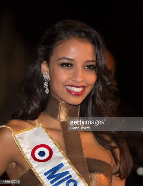 Flora Coquerel Miss France attends the 15th NRJ Music Awards at Palais des Festivals on December 14 2013 in Cannes France