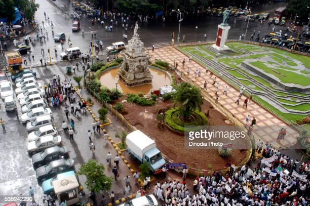 Flora Fountain situated in Mumbai city, Maharashtra, India.