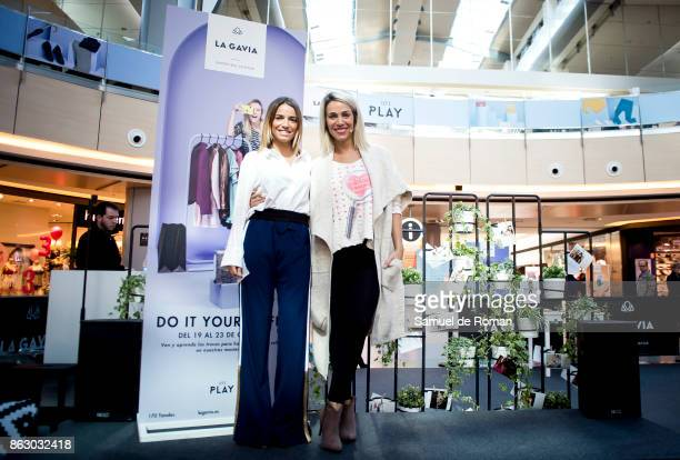 Flora Gonzalez and Nerea Garmendia attend the '#Doityourselfie' Masterclass in Madrid on October 19 2017 in Madrid Spain
