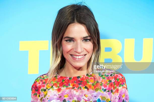 Flora Gonzalez attends 'La Tribu' premiere at the Capitol cinema on March 12 2018 in Madrid Spain