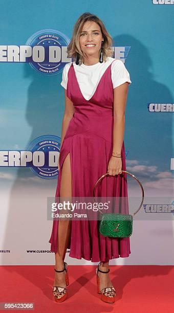 Flora Gonzalez attends the 'Cuerpo de Elite' premiere at Capitol cinema on August 25 2016 in Madrid Spain
