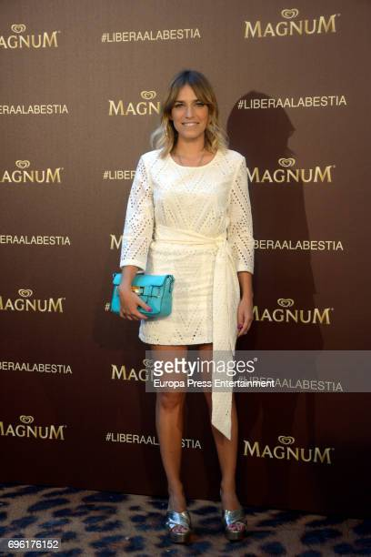 Flora Gonzalez attends the Magnum new campaign presentation party at the Palacete de Fortuny on June 14 2017 in Madrid Spain