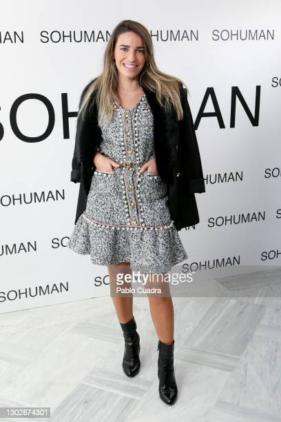 Flora Gonzalez attends the 'Relieve' photocall at the White Lab Gallery on February 17, 2021 in Madrid, Spain.