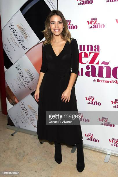 Flora Gonzalez attends 'Una Vez Al Ano' premiere at the Marquina Theater on March 21 2018 in Madrid Spain