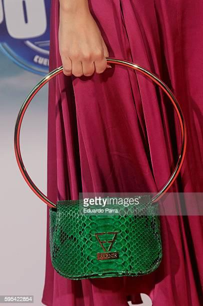 Flora Gonzalez bag detail attends the 'Cuerpo de Elite' premiere at Capitol cinema on August 25 2016 in Madrid Spain