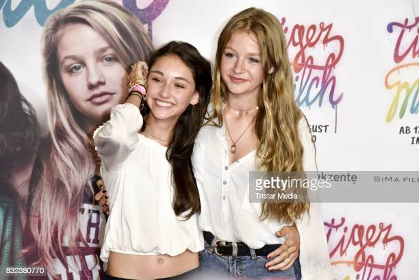 Flora Li Thiemann and Emily Kusche attend the 'Tigermilch' Premiere at Kino in der Kulturbrauerei on August 15 2017 in Berlin Germany