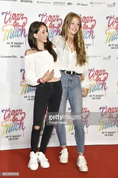 Flora Li Thiemann and Emily Kusche attend the 'Tigermilch' Premiere at Kino in der Kulturbrauerei on August 15, 2017 in Berlin, Germany.