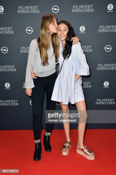 Flora Li Thiemann and Emily Kusche attend the 'Tigermilch' Premiere during Munich Film Festival 2017 at Mathaeser Filmpalast on June 23 2017 in...