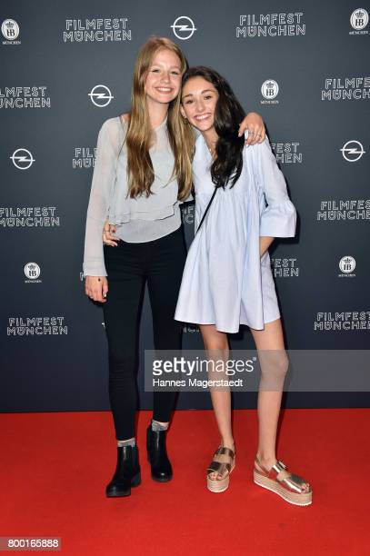Flora Li Thiemann and Emily Kusche attend the 'Tigermilch' Premiere during Munich Film Festival 2017 at Mathaeser Filmpalast on June 23 2017 in...