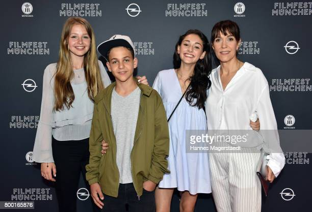 Flora Li Thiemann David Ali Rashed Emily Kusche and Ute Wieland attend the 'Tigermilch' Premiere during Munich Film Festival 2017 at Mathaeser...