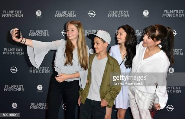 Flora Li Thiemann David Ali Rashed Emily Kusche and Ute Wieland attend the 'Tigermilch' Premiere during Munich Film Festival 2017 at Mathaeser...