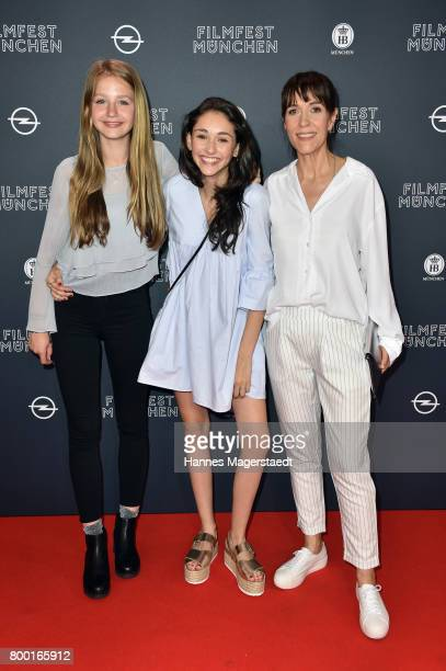 Flora Li Thiemann Emily Kusche and Ute Wieland attend the 'Tigermilch' Premiere during Munich Film Festival 2017 at Mathaeser Filmpalast on June 23...