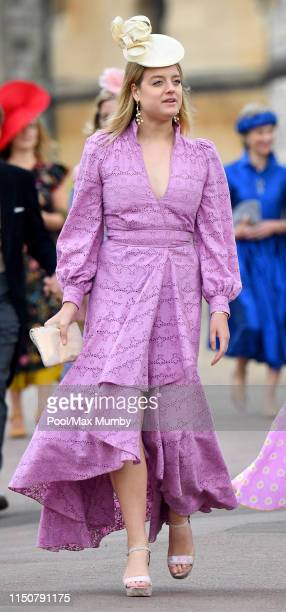 Flora Ogilvy attends the wedding of Lady Gabriella Windsor and Thomas Kingston at St George's Chapel on May 18, 2019 in Windsor, England.