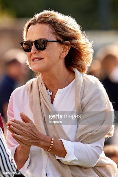 Flora Perez attends during CSI Casas Novas Horse Jumping Competition on July 20 2018 in A Coruna Spain