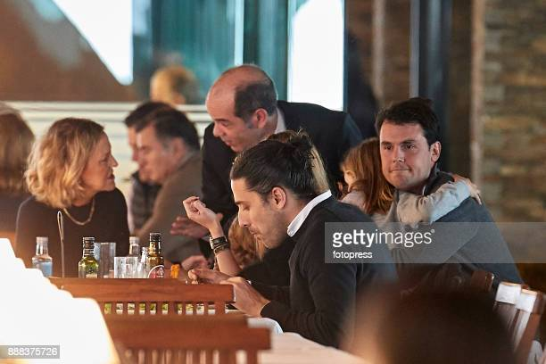 Flora Perez Carlos Torretta and Sergio Alvarez Moya attend during CSI Casas Novas Horse Jumping Competition on December 8 2017 in A Coruna Spain