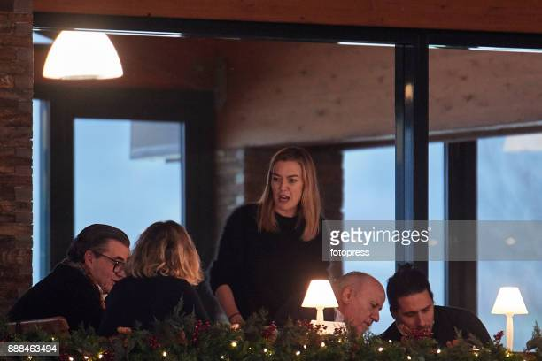 Flora Perez Marta Ortega Carlos Torretta and Amancio Ortega attend during CSI Casas Novas Horse Jumping Competition on December 8 2017 in A Coruna...