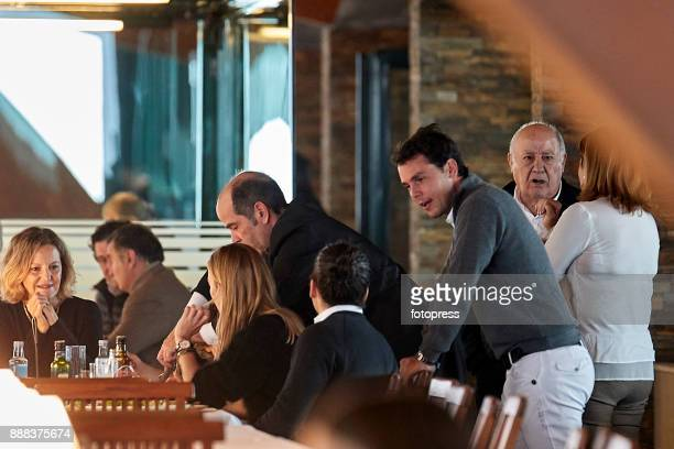 Flora Perez Marta Ortega Carlos Torretta Sergio Alvarez Moya and Amancio Ortega attend during CSI Casas Novas Horse Jumping Competition on December 8...