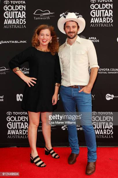 Flora Smith and Jim Arneman of 'Small Town Romance' arrive for the 2018 Toyota Golden Guitar Awards on January 27 2018 in Tamworth Australia