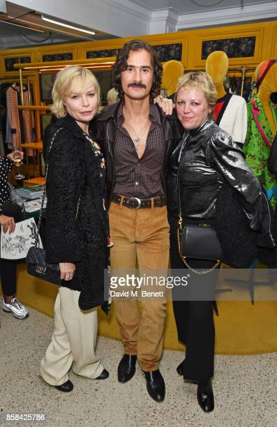 Flora Starkey Ben Cobb and Jess Hallett attend the Dover Street Market open house on October 6 2017 in London England