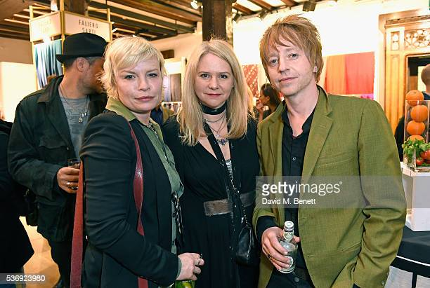 Flora Starkey, Lee Starkey and Cass Browne attend the Rockins Happening at Liberty London on June 1, 2016 in London, England.