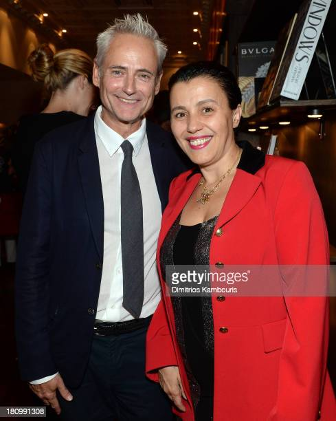 Floral Artist Olivier Giugni and designeroptician Selima Salaun attend ASSOULINE Martine and Prosper Assouline host a book signing for Ketty...
