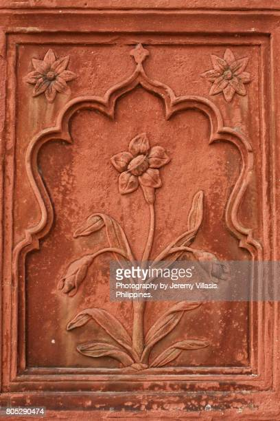 Floral Bas Relief, Red Fort, Old Delhi