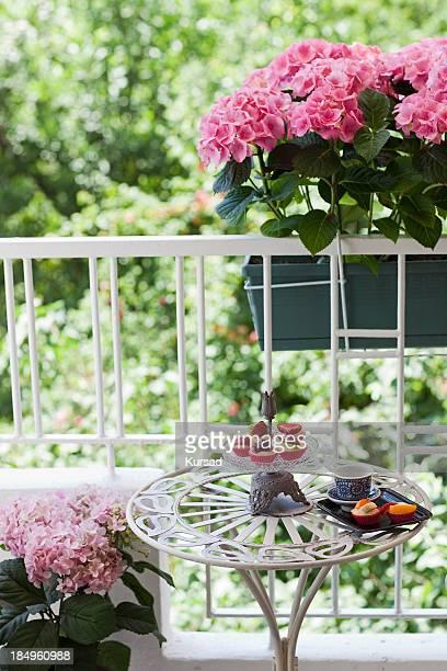 Gestalteten Balkon mit