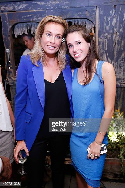 Floral designer Frederique Van Der Wal and Scyler Pim Van Der Wal Klein attend the Frederique's Choice US Launch Party at Gallow Green at The...