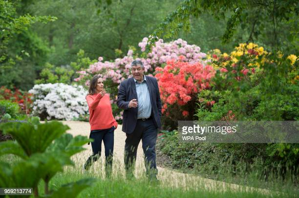 Floral designer Philippa Craddock and Keeper of the Gardens John Anderson choose plants, which will feature in the floral displays at St George's...